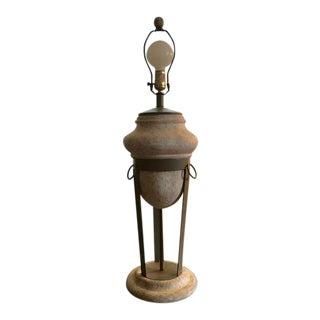 1980's Sculptural Cast Plaster Table Lamp For Sale
