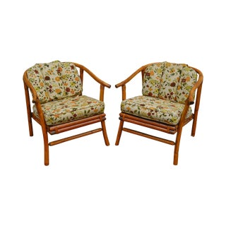 Ficks Reed Mid-Century Rattan Lounge Chairs - A Pair For Sale
