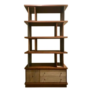 Ad Modern Industrial Modern Metal and Wood Epoque Bookcase For Sale