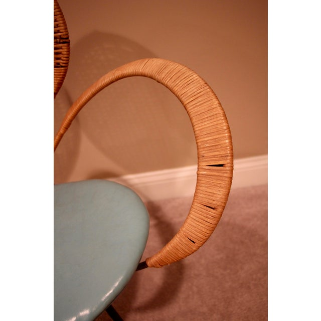 Mid-Century Modern Mid-Century Style Rattan Armchair For Sale - Image 3 of 5