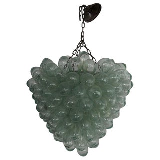 Glass Grape Cluster Chandelier For Sale