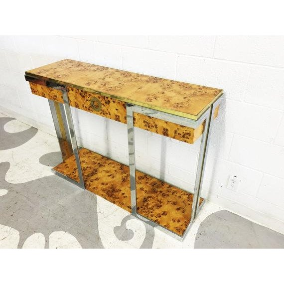 Willy Rizzo Burl Wood Console - Image 5 of 6