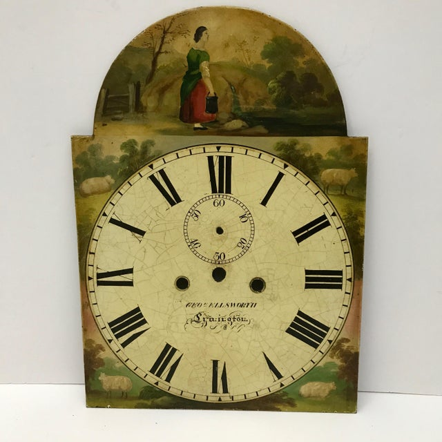 Antique English Hand Painted Clock Face, C.1890 - Image 2 of 6