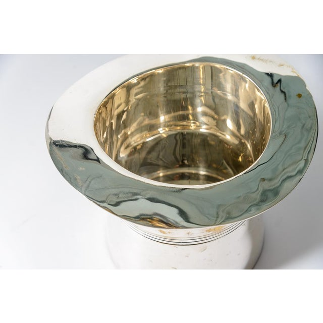 Silver Plated Top Hat Champagne Bucket by Godinger For Sale - Image 11 of 12