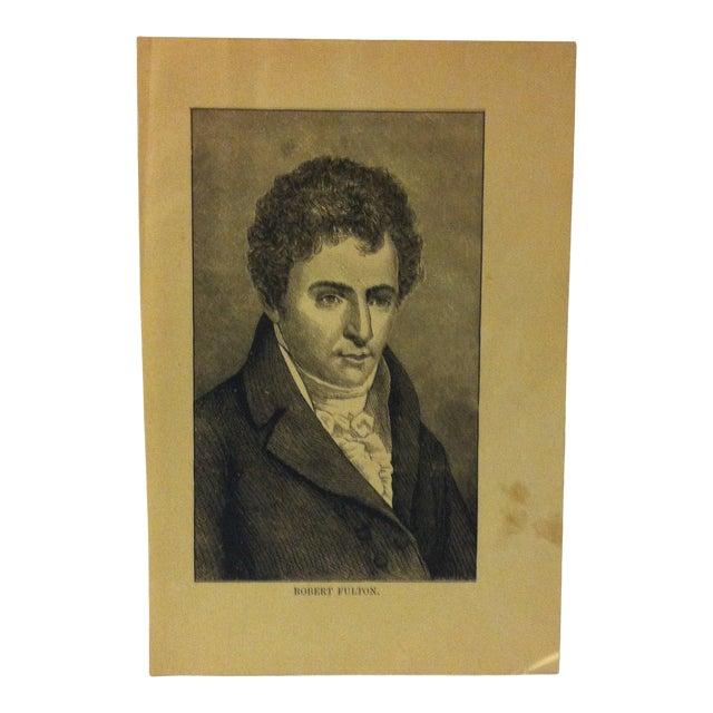 "1880 ""Robert Fulton"" Successful Self-Made Men Print on Paper For Sale"