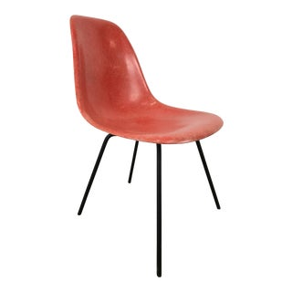 Mid-Century First Year Production Charles Eames Fiberglass Side Chair X-Base For Sale