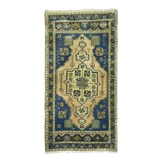 Vintage Turkish Rug, 1'9'' X 3'7'' For Sale