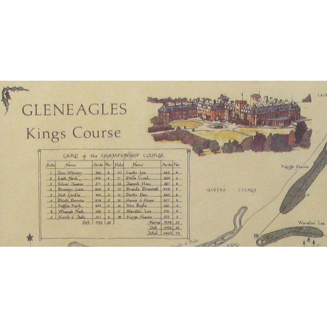 A perfect decorative accent for any golfer is this vintage framed print of the prestigious Gleneagles King's Course in...