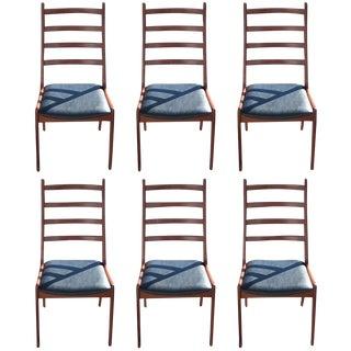 Six Kai Kristiansen for Korup Stolefabrik Rosewood Danish Dining Chairs For Sale