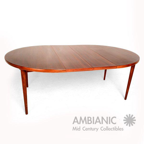 Brown Scandinavian Modern Swedish Oval Dining Table For Sale - Image 8 of 9