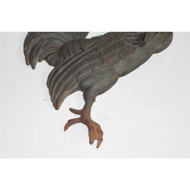 19th Century Cast Iron Wall-Mounted Rooster - Image 4 of 5