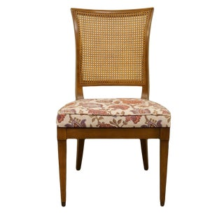 Late 20th Century High End Italian Provincial Style Cane Back Dining Side Chair For Sale