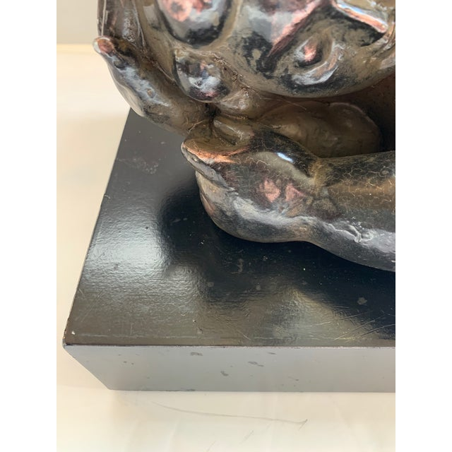 Figurative Nude Tabletop Sculpture in Style of Botero For Sale - Image 3 of 12