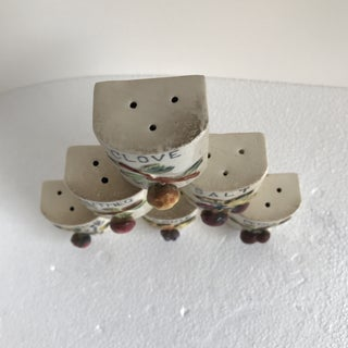 Vintage Ceramic Spice Shakers - Set of 6 Preview