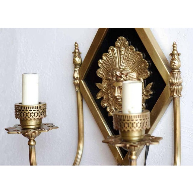 Neoclassical Early 20th-C. Neoclassical Bronze Sconce For Sale - Image 3 of 5