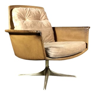 "1966 Mid-Century Modern Horst Brüning for Cor Germany ""Sedia"" Leather Armchair For Sale"
