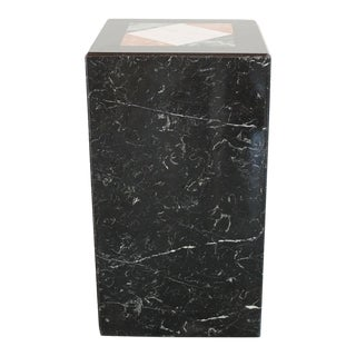 Inlaid Marble Pedestal For Sale