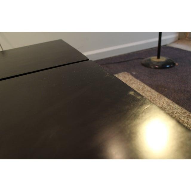 Mid Century Modern Ebonized Coffee Tables - Pair - Image 6 of 11