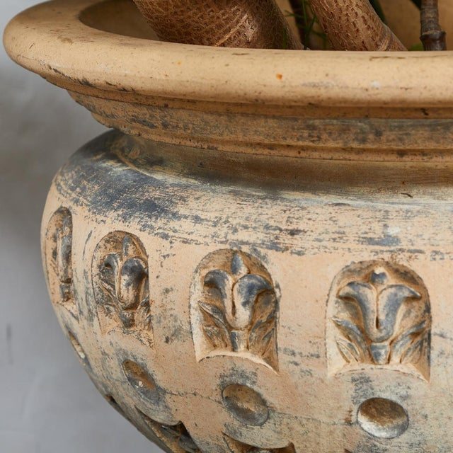 Ceramic Terra Cotta Planter With Flared Rim From 19th Century England For Sale - Image 7 of 11