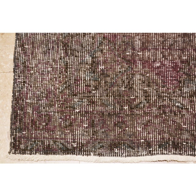 """Shabby Chic Vintage Turkish Anatolian Whitewash Hand Knotted Organic Wool Fine Weave Rug,3'1x11'3"""" For Sale - Image 3 of 4"""