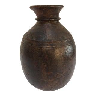 African Tuareg Tribal Hand-Carved Wooden Milk Jug For Sale