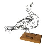 Image of Mid-Century Wire Dove Sculpture For Sale