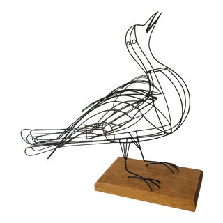 Mid-Century Wire Dove Sculpture For Sale