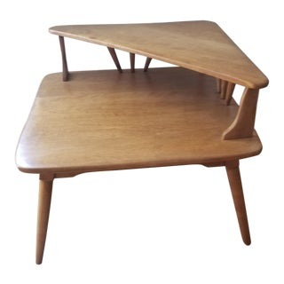 1940s Vintage Cushman of Vermont Double Tiered End Table For Sale