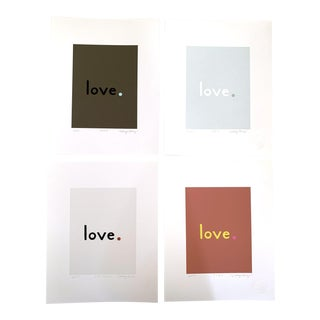 """""""Cool Neutral"""" Contemporary Fine Art Giclee Love Prints by Neicy Frey - Set of 4 For Sale"""