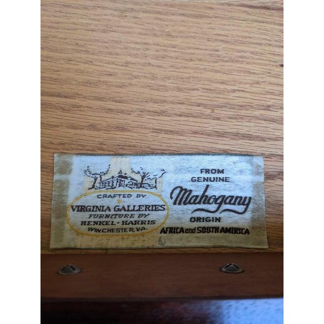 Vintage Henkel-Harris Drop Leaf Mahogany Side Table For Sale - Image 10 of 12