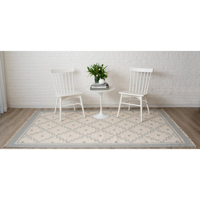 """Erin Gates Thompson Langley Grey Hand Woven Wool Area Rug 3'6"""" X 5'6"""" For Sale - Image 4 of 5"""