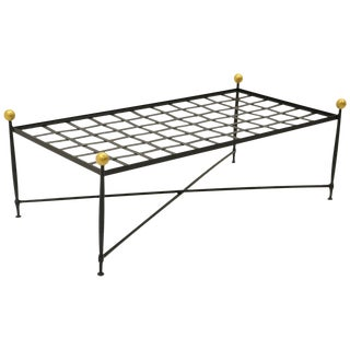 Outdoor Coffee Table or Bench by Mario Papperzini for John Salterini, Restored For Sale