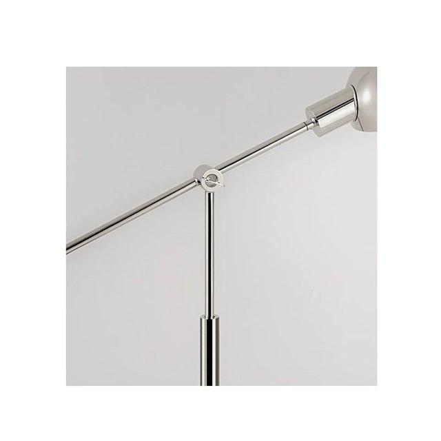 Polished Nickel Adjustable Desk Light For Sale - Image 4 of 6
