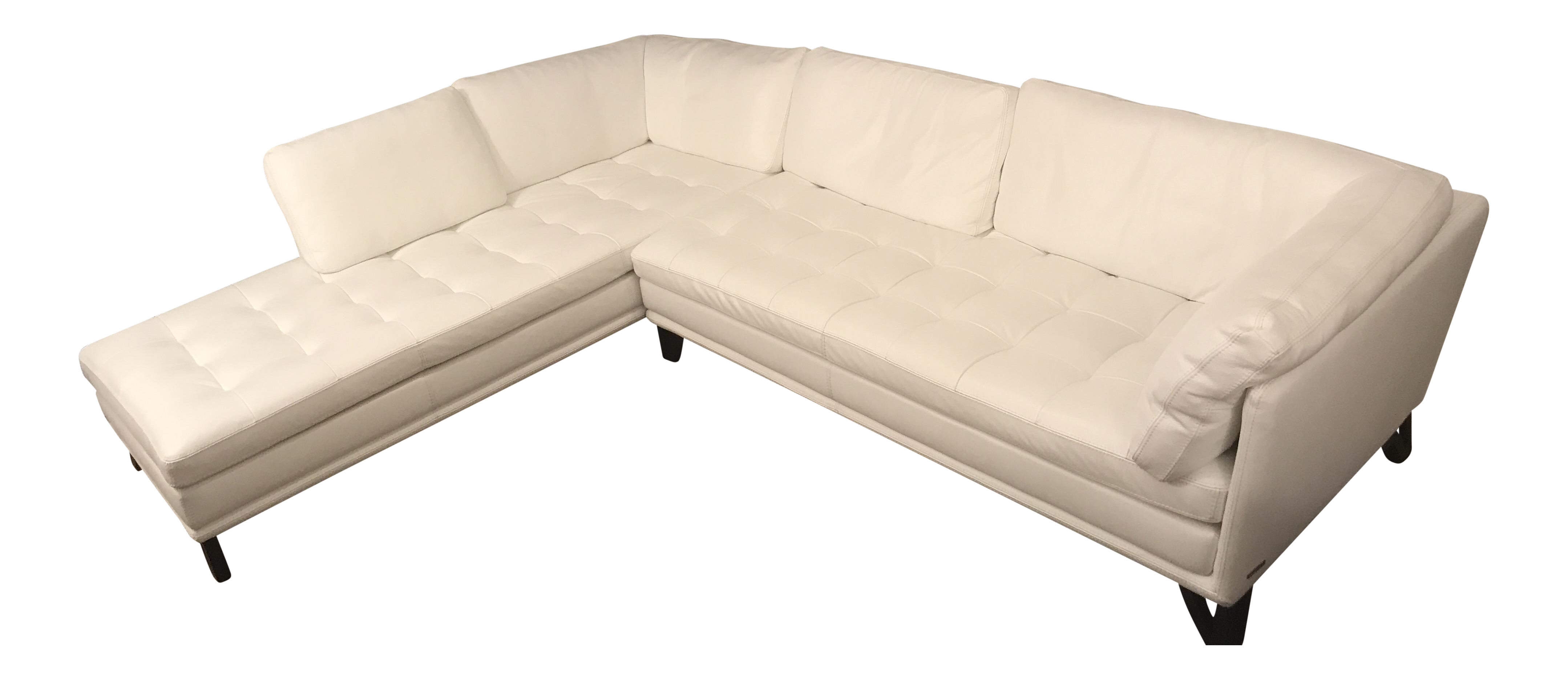 Incredible Roche Bobois Rivage White Leather Sectional Sofa Ocoug Best Dining Table And Chair Ideas Images Ocougorg