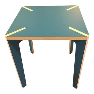Blue Modern Design French Table X Wood For Sale