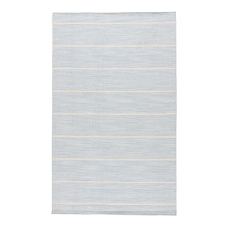 Jaipur Living Cape Cod Handmade Stripe Blue/ White Area Rug - 10' X 14' For Sale