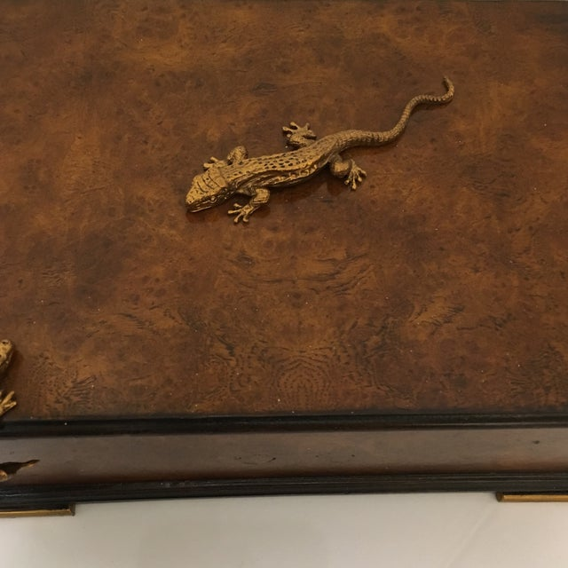 Traditional Traditional Theodore Alexander Walnut Decorative Box For Sale - Image 3 of 8