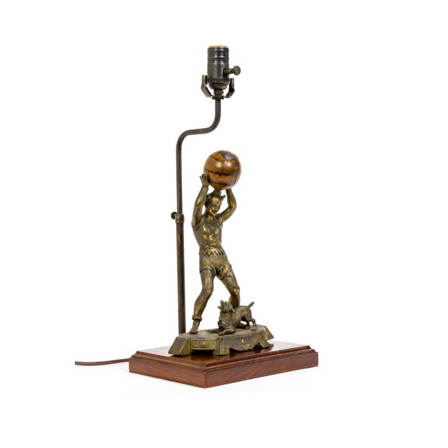 Circus Jester Sculpture With Walnut Ball Lamp For Sale - Image 13 of 13