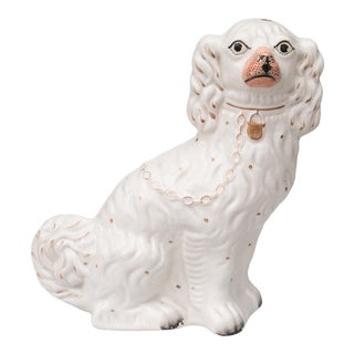 Antique English Staffordshire Spaniel Dog For Sale
