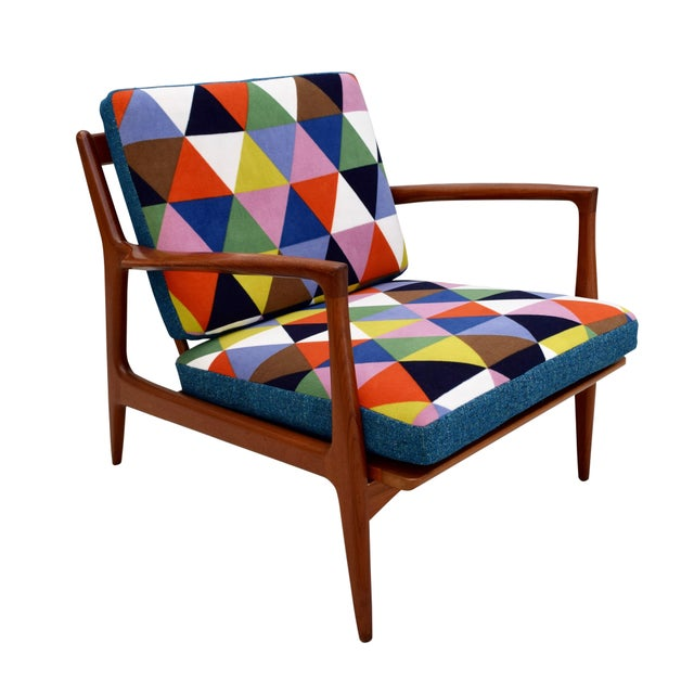 Vintage Danish Mid-Century Teak Lounge Chair For Sale - Image 9 of 10