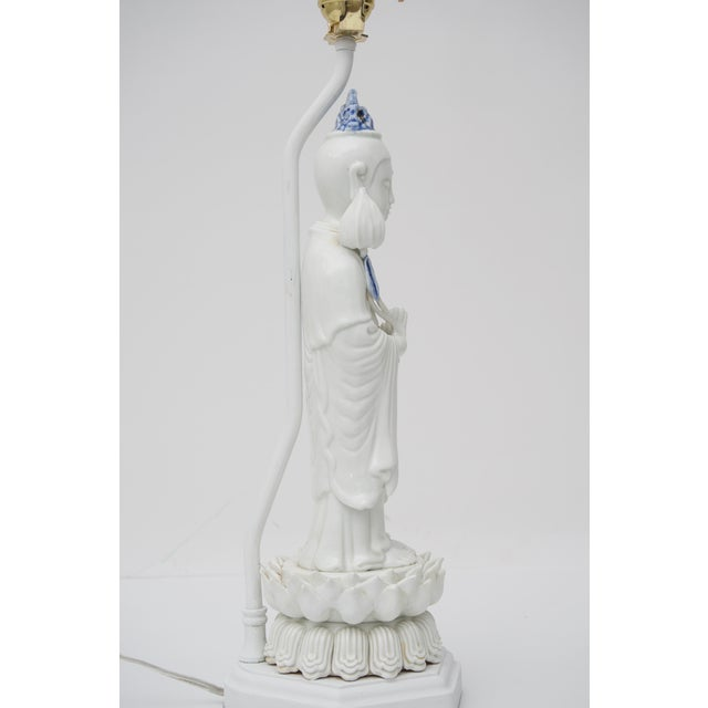 Blanc De Chine Quan Yin Table Lamp For Sale In West Palm - Image 6 of 10