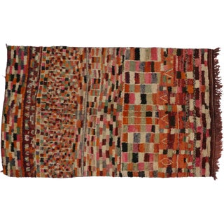 Vintage Berber Moroccan Rug With Modern Abstract Style - 5' X 8' For Sale