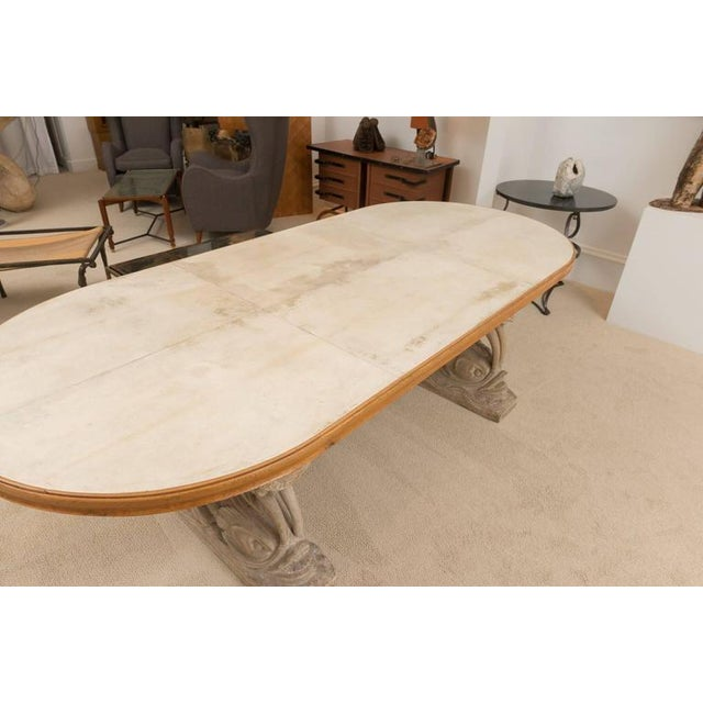 Tan Maison Jansen Dolphin Motif Table For Sale - Image 8 of 13