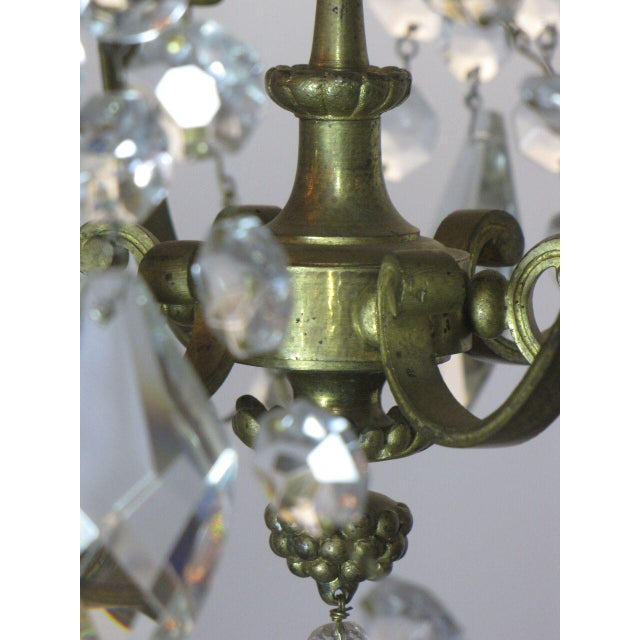 Gold French Bronze and Crystal Chandelier For Sale - Image 8 of 9