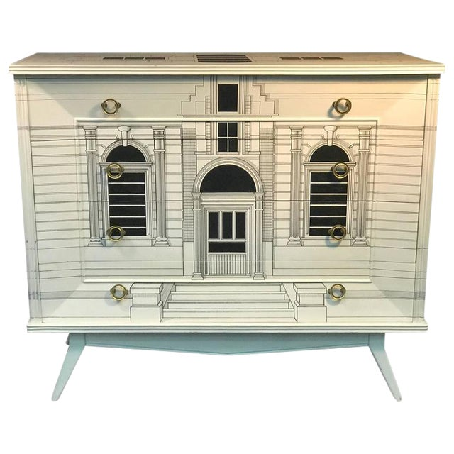 Magnificent Mid Century Italian Building Design Dresser For Sale