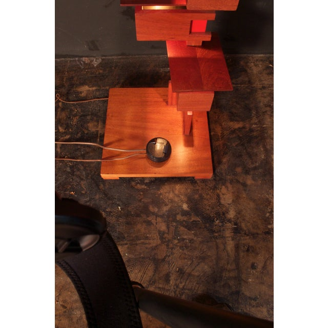 Frank Lloyd Wright Style Floor Lamp For Sale - Image 9 of 9