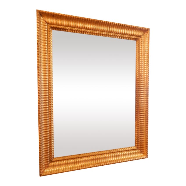 19th C. Charles X Gold Gilt Mirror For Sale