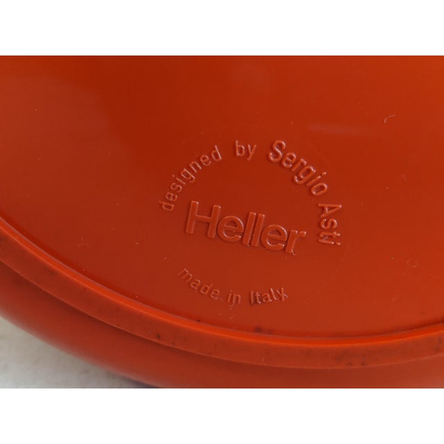 Orange Vintage Orange Heller Ice Bucket by Sergio Asti For Sale - Image 8 of 9