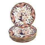 Image of Antique Royal Crown Derby Imari Kings 383 Pattern-Set of 6 For Sale