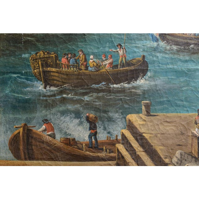 Harbour Scene Oil Painting For Sale In West Palm - Image 6 of 9